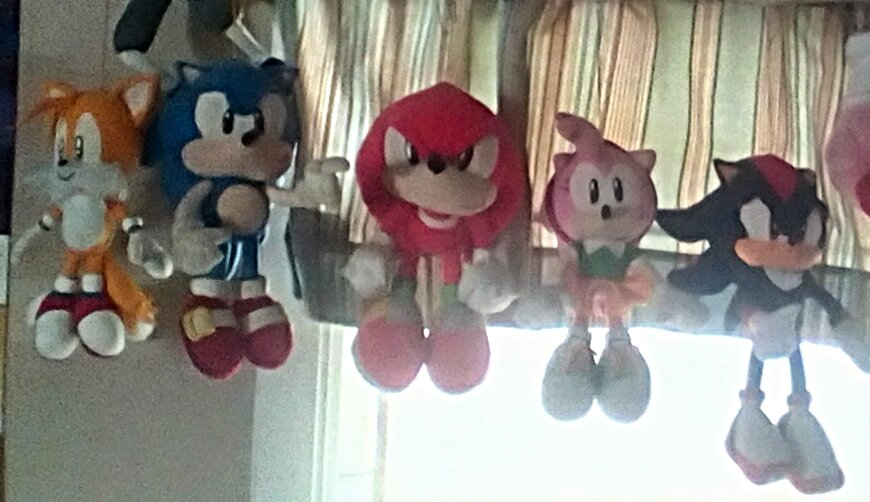 Various Sonic Plushes by SquirrelCat1998V2