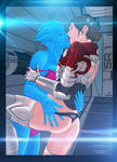 Shepard and Liara Kissing