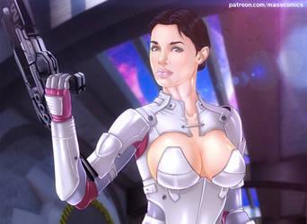 Mass Effect: Ashley Williams by Eromaxi