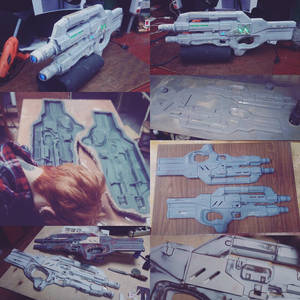 Cerberus Harrier Assault Rifle craft progress