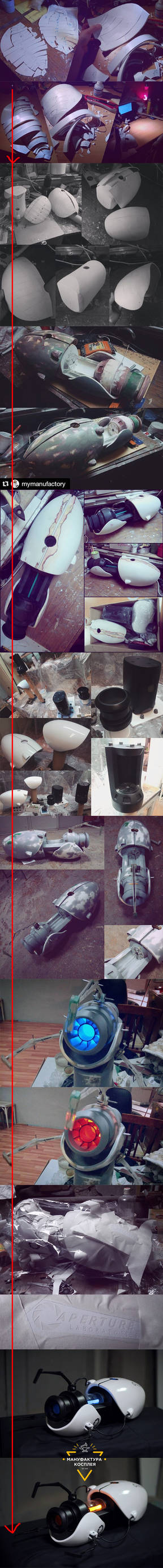 Portal gun cosplay replica pgraft progress