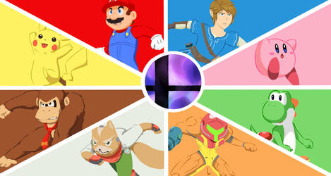 [Request] Super Smash Bros. Ultimate Wallpaper by Christarmewn