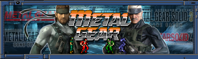 Metal Gear Solid Series Banner by MegaMac