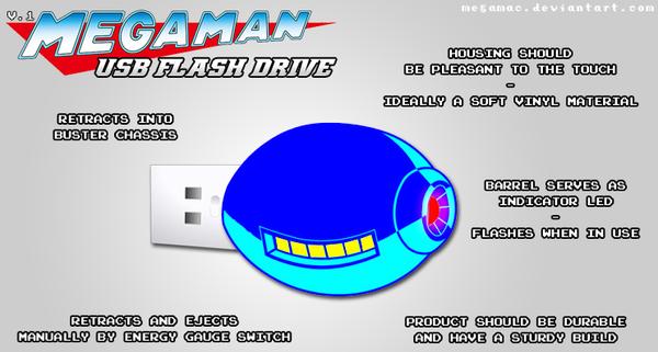 MegaMan Flash Drive by MegaMac