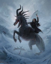 Beasts ride forth by the calling of frozen Lands