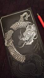 Eastern Dragon Engraving WIP