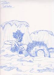 Inktober #16 - Wet by Penstray