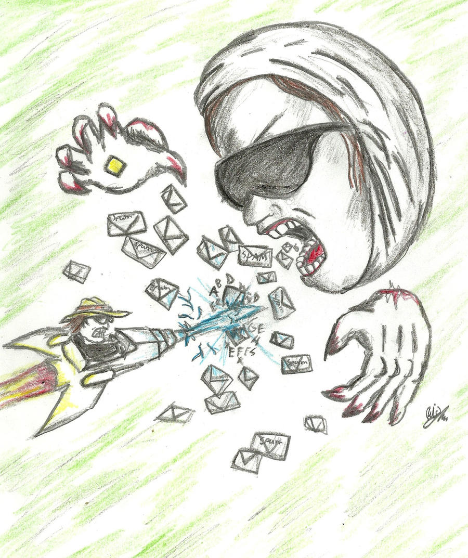 el troll vs dross by Redmask94
