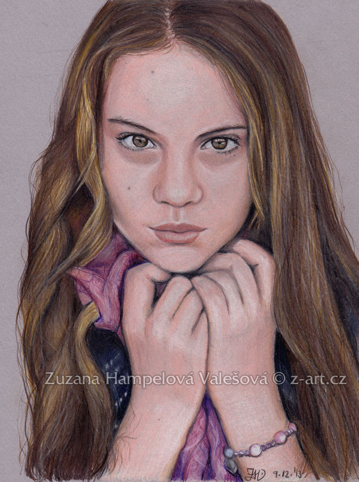 Girl with scarf by Lillian-Bann