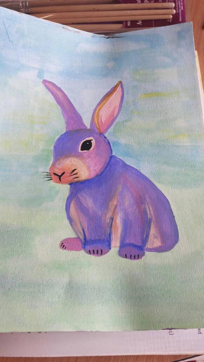 purple bunny by TaitGallery