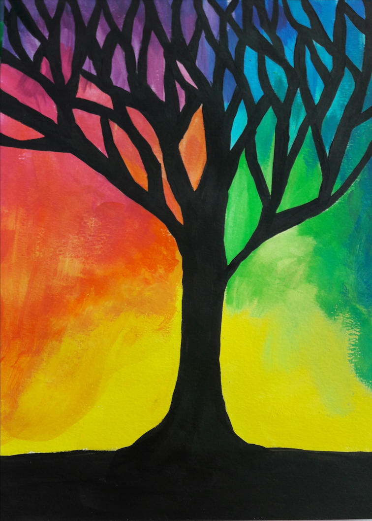 colourful tree  by TaitGallery