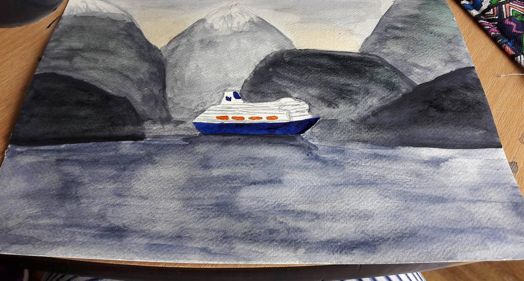 Ship in norway by TaitGallery