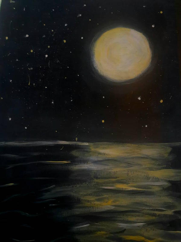 moonlight on the water  by TaitGallery