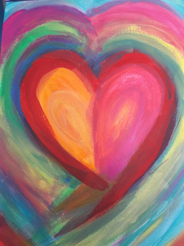 colourful heart by TaitGallery