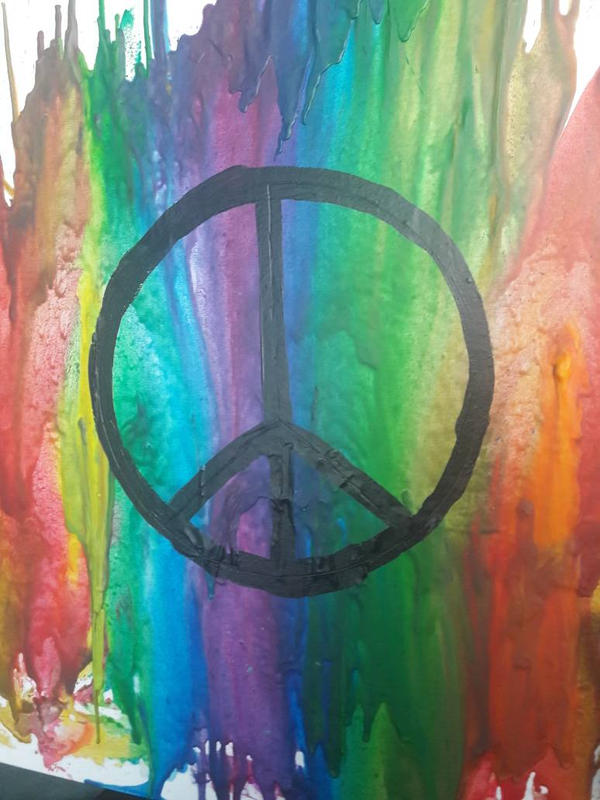 wax art - peace by TaitGallery