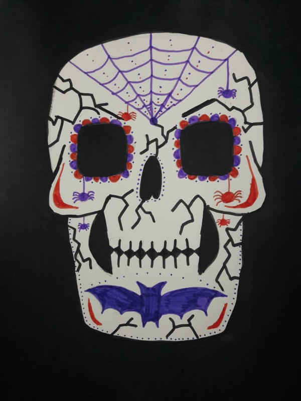 Halloween sugar skull by TaitGallery