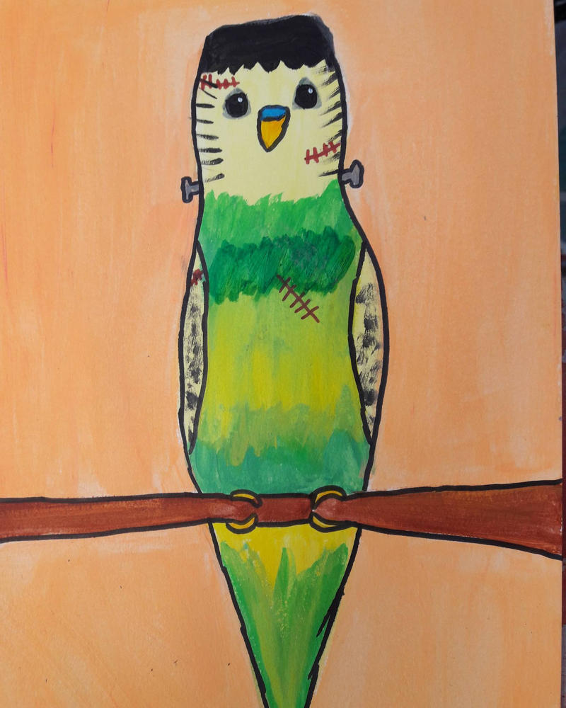 frankenbudgie's monster by TaitGallery