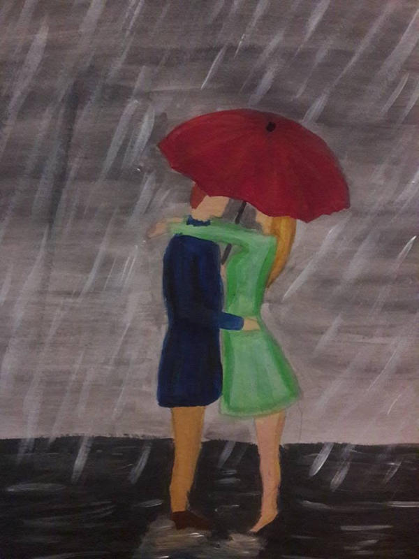 couple in the rain by TaitGallery