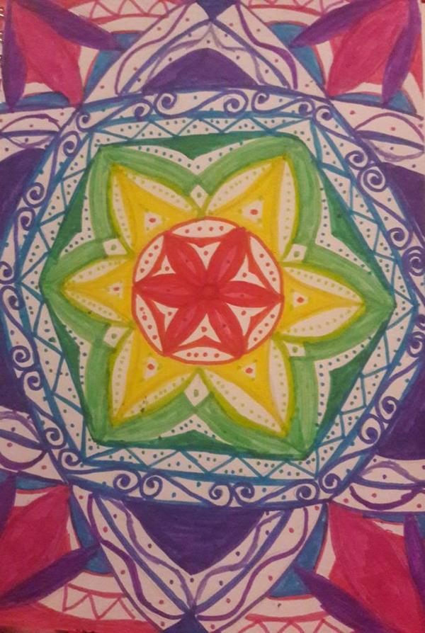 rainbow mandala by TaitGallery