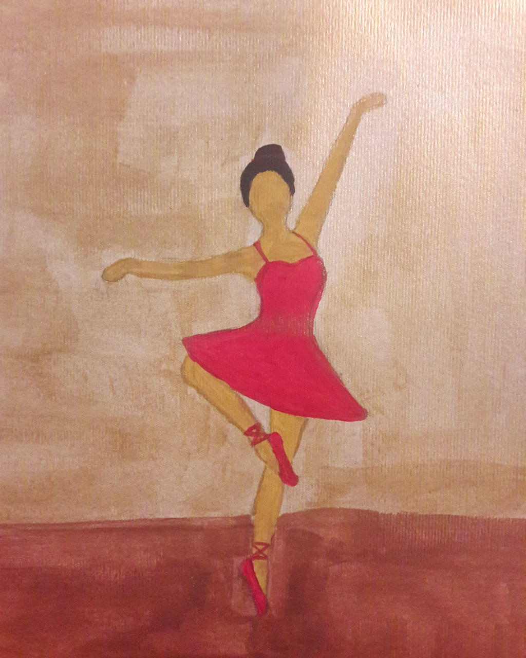 red ballerina by TaitGallery