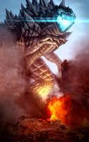 Godzilla Production Sketch by RiptorCPV