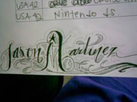 quick name sketch in class by jasondadon22