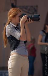 Photographer in work