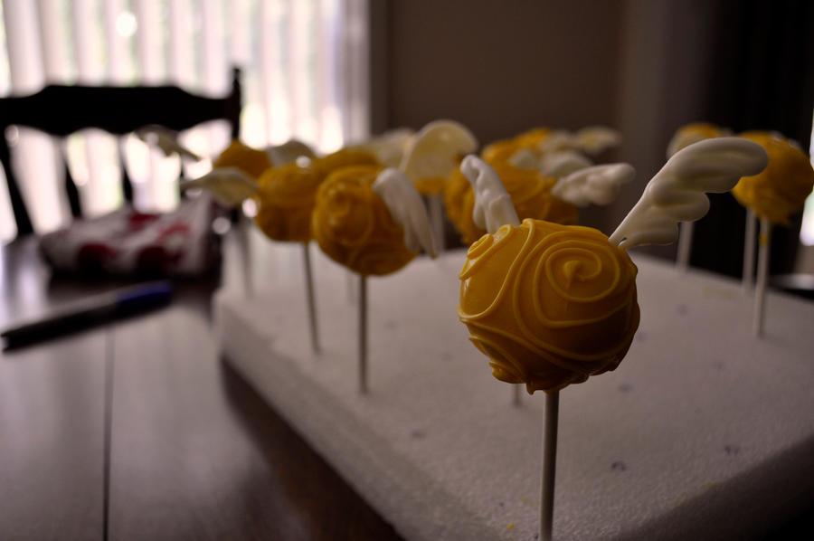 Snitch Cake Pops by Alice0fSpades
