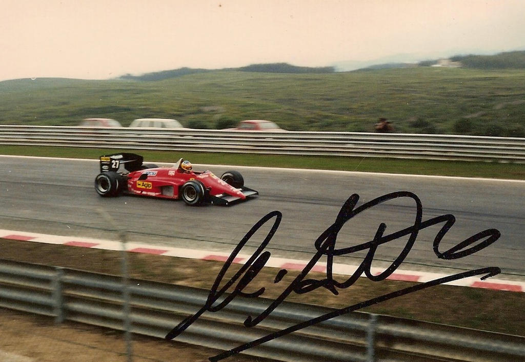 Michelle Alboreto, Ferrari, Estoril - 1985 by F1PAM