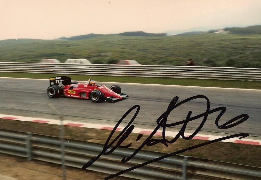 Michelle Alboreto, Ferrari, Estoril - 1985 by F1PAM