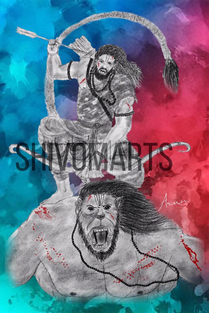 Rma rides Hanuman  by shivomarts