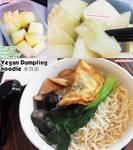 Vegan Dumpling noodle soup