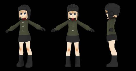 Low Poly Character: Katyusha by kenfan0206
