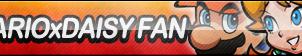 Mario x Daisy Fan Button by ButtonsMaker