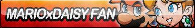 Mario x Daisy Fan Button