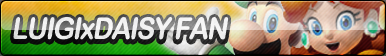Luigi X Daisy Fan Button