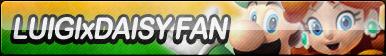 Luigi X Daisy Fan Button by ButtonsMaker