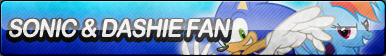 Sonic and Dashie Fan Button