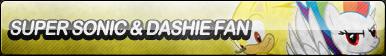 Super Sonic and Dashie Fan Button