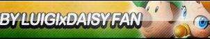 Baby Luigi X Daisy Fan Button by ButtonsMaker