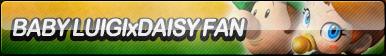 Baby Luigi X Daisy Fan Button