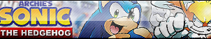 Sonic Archie Comics Button (UPDATED) by ButtonsMaker