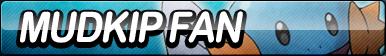 Mudkip Fan Button by ButtonsMaker