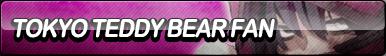 Tokyo Teddy Bear Fan Button by ButtonsMaker