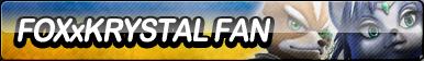 Fox X Krystal Fan Button by ButtonsMaker