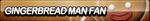 Gingerbread Man Fan Button by ButtonsMaker