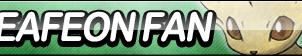 Leafeon Fan Button by ButtonsMaker