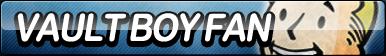 Vault Boy Fan Button by ButtonsMaker