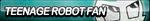 Teenage Robot Fan Button by ButtonsMaker
