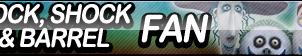 Lock, Shock, and Barrel Fan Button by ButtonsMaker